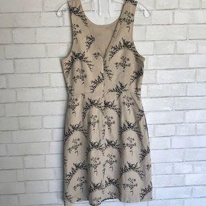 Gap Dress Linen Strapless V neck 4 Tall